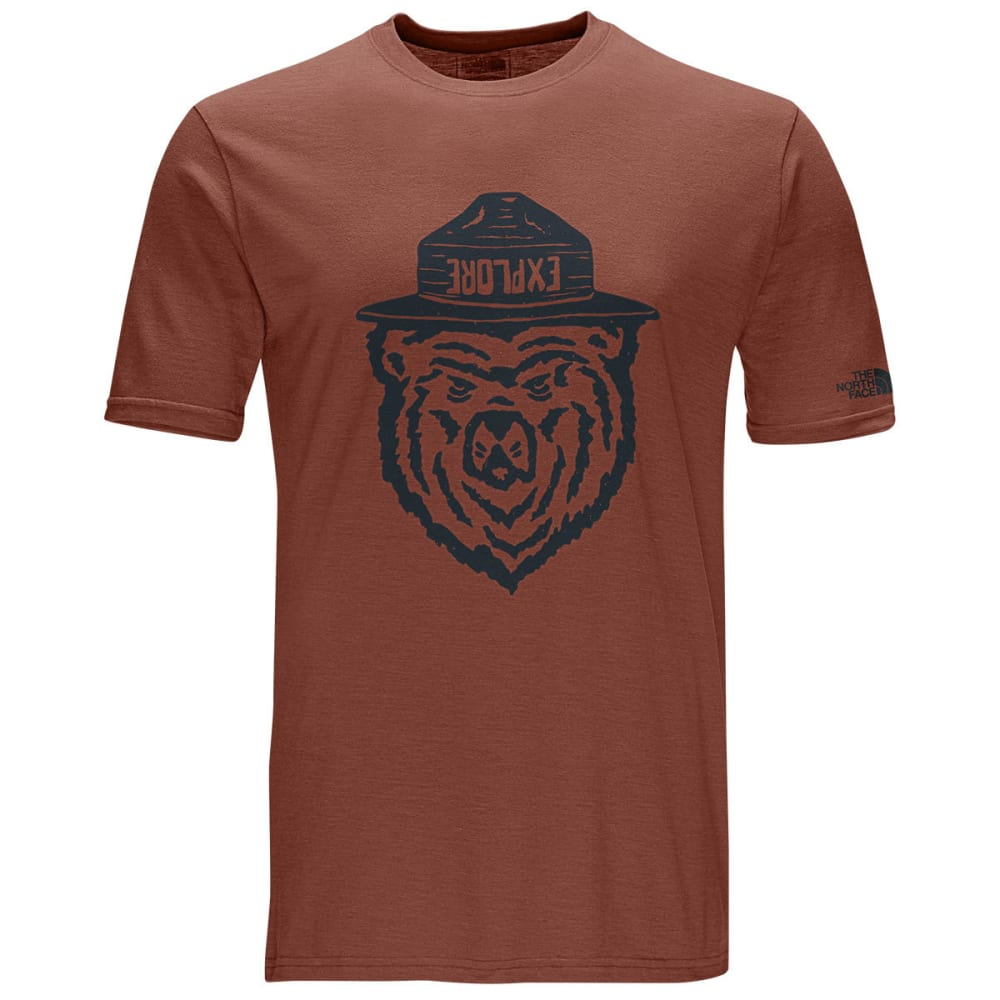THE NORTH FACE Men's Short-Sleeve Ranger Bear Tri-Blend Graphic Tee - UES-KETCHUP RED HTHR