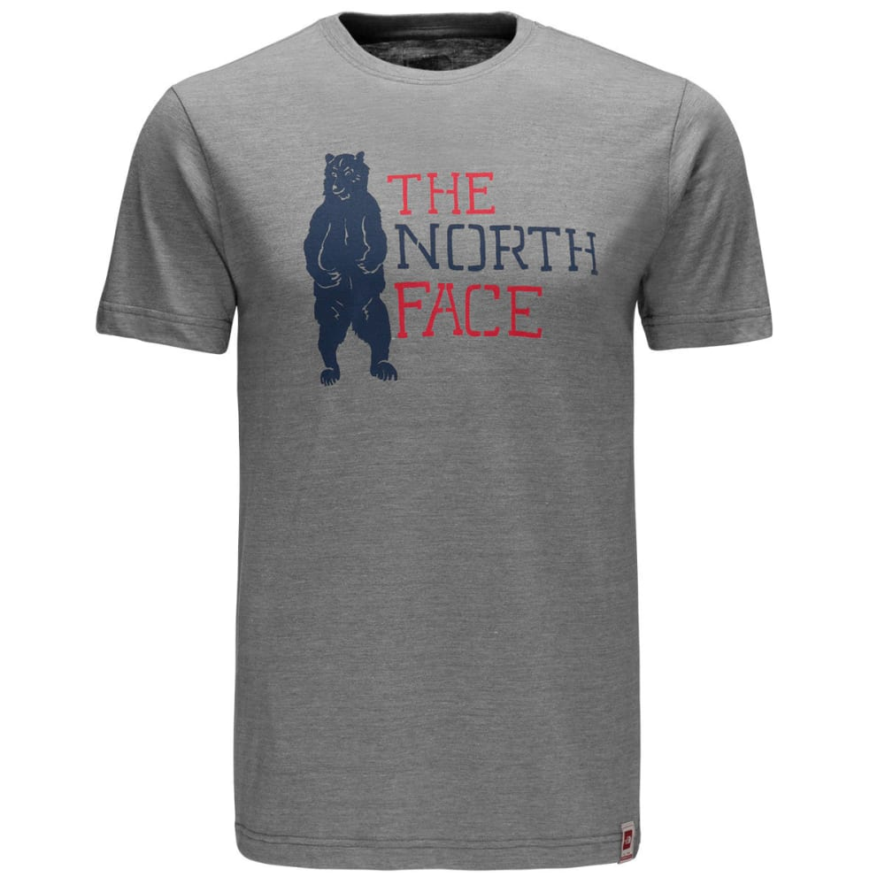 THE NORTH FACE Men's Short-Sleeve Americana Tri-Blend Slim Graphic Tee - DYY-TNF MED GRY HTHR