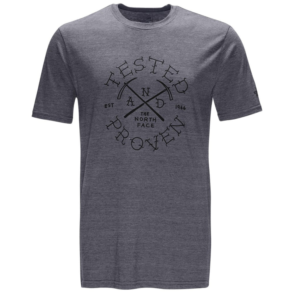 THE NORTH FACE Men's Short-Sleeve Pickaxe Tri-Blend Graphic Tee - DYY-TNF MED GRY HTHR