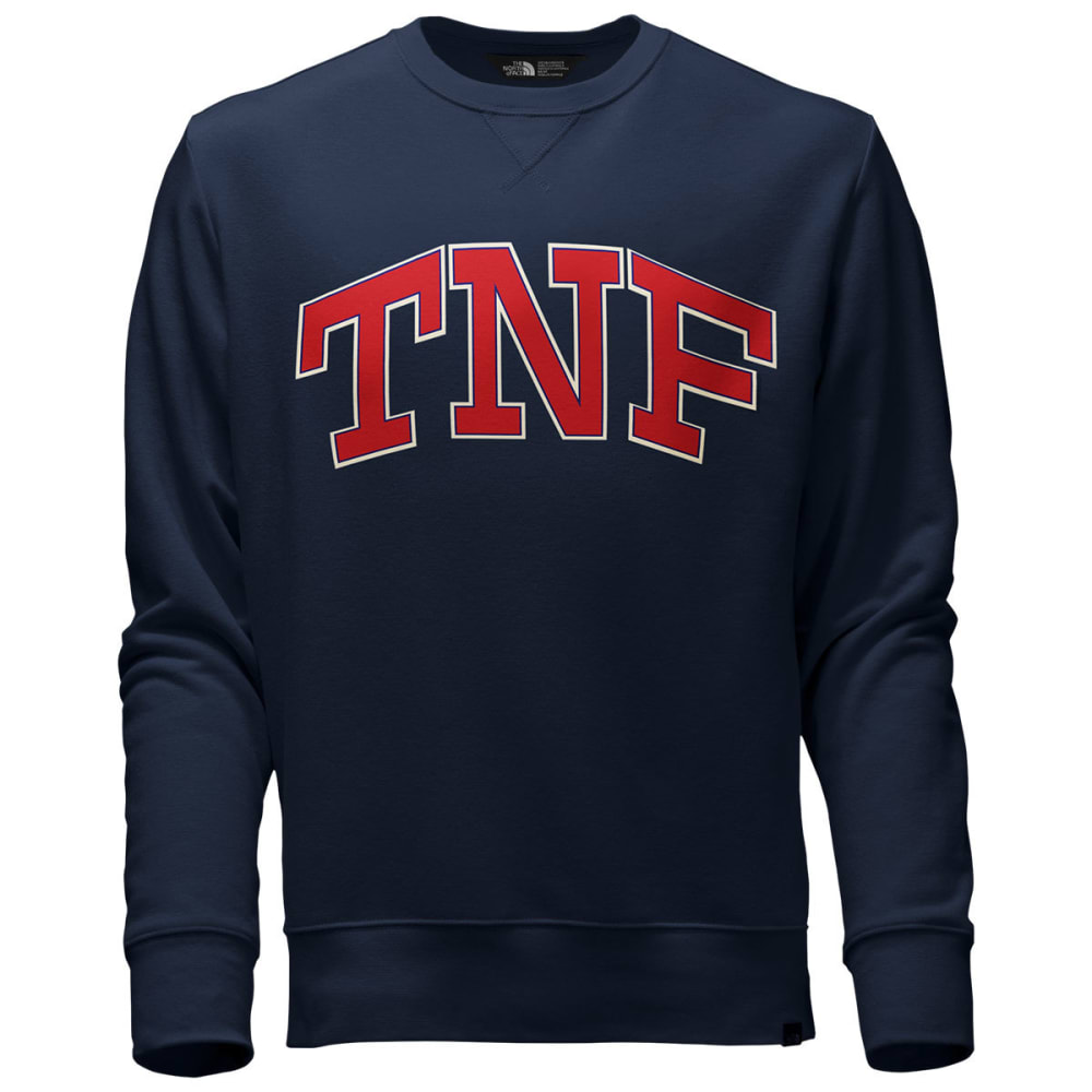 THE NORTH FACE Men's Americana Fleece Crew Pullover - RGJ-URBAN NAVY/CARDI
