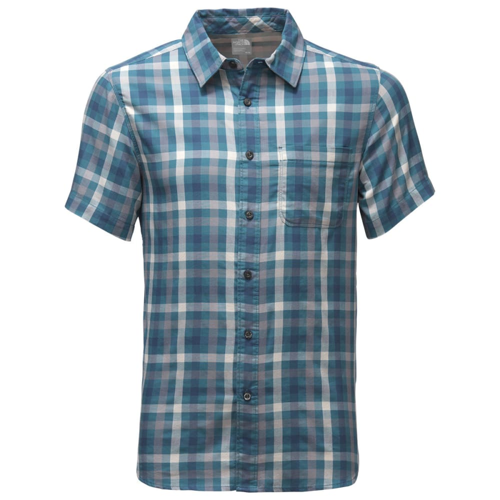 THE NORTH FACE Men's Short-Sleeve Hayden Pass Shirt - CLN-DIESAL BLUE PLAI