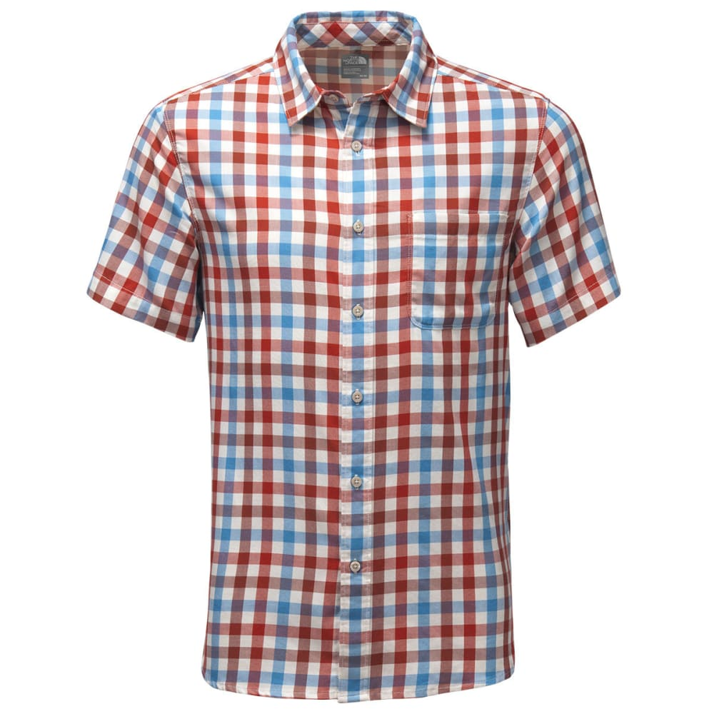 THE NORTH FACE Men's Short-Sleeve Hayden Pass Shirt - VQK-KETCHUP RED PLAI