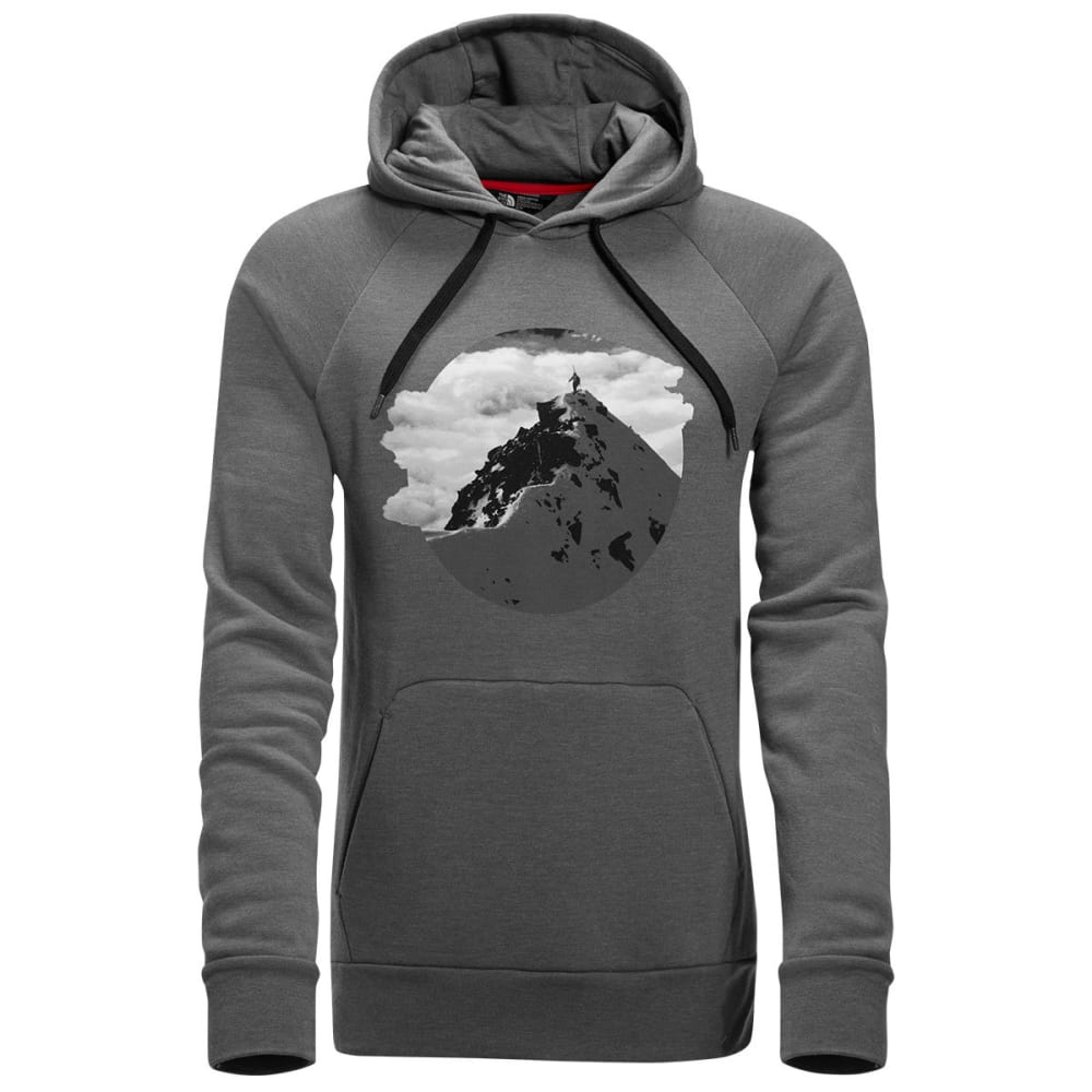 THE NORTH FACE Men's Jimmy Chin Pullover Hoodie - DYY-TNF MED GRY HTHR
