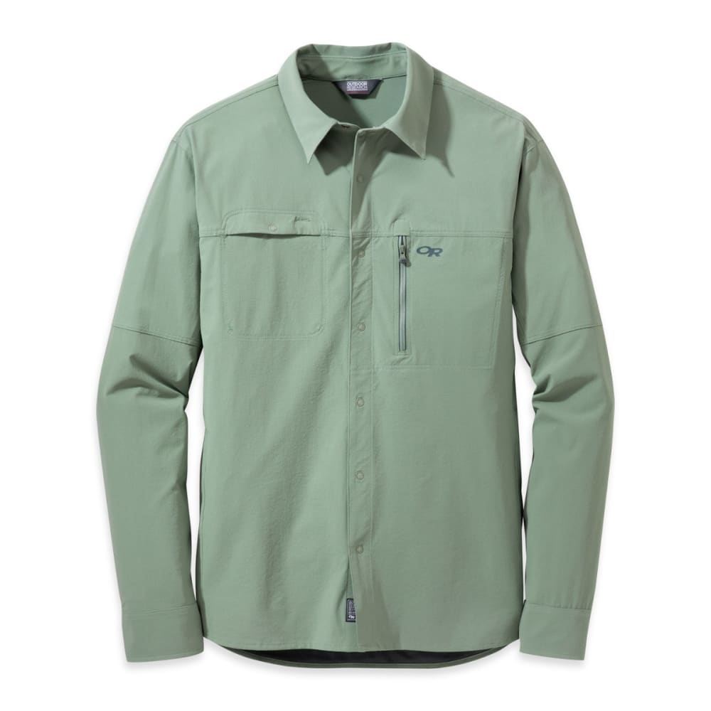 OUTDOOR RESEARCH Men's Ferrosi Utility Long-Sleeve Shirt - SAGE GREEN