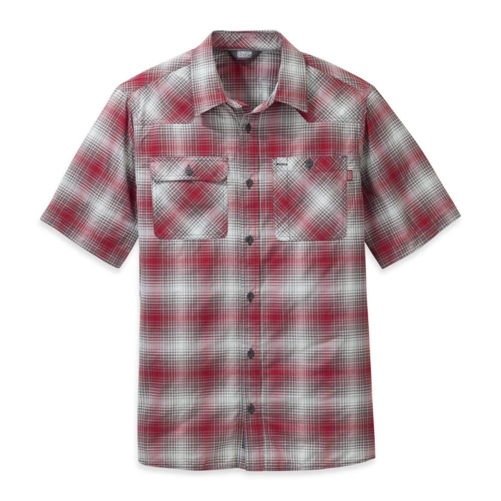 OUTDOOR RESEARCH Men's Growler Short-Sleeve Shirt - AGATE/PEWTER