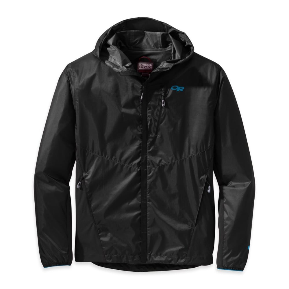 OUTDOOR RESEARCH Men's Helium Hybrid Hooded Jacket - BLACK-0001