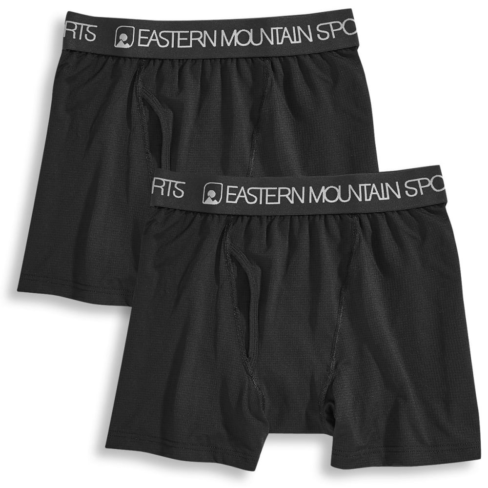 EMS Men's Techwick Boxer Briefs, 2 Pack - BLACK/BLACK ASSORT