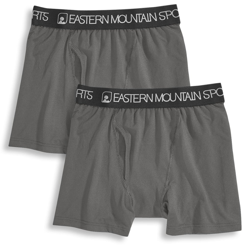 EMS® Men's Techwick Boxer Briefs, 2 Pack - PEWTER/BLACK ASSORT