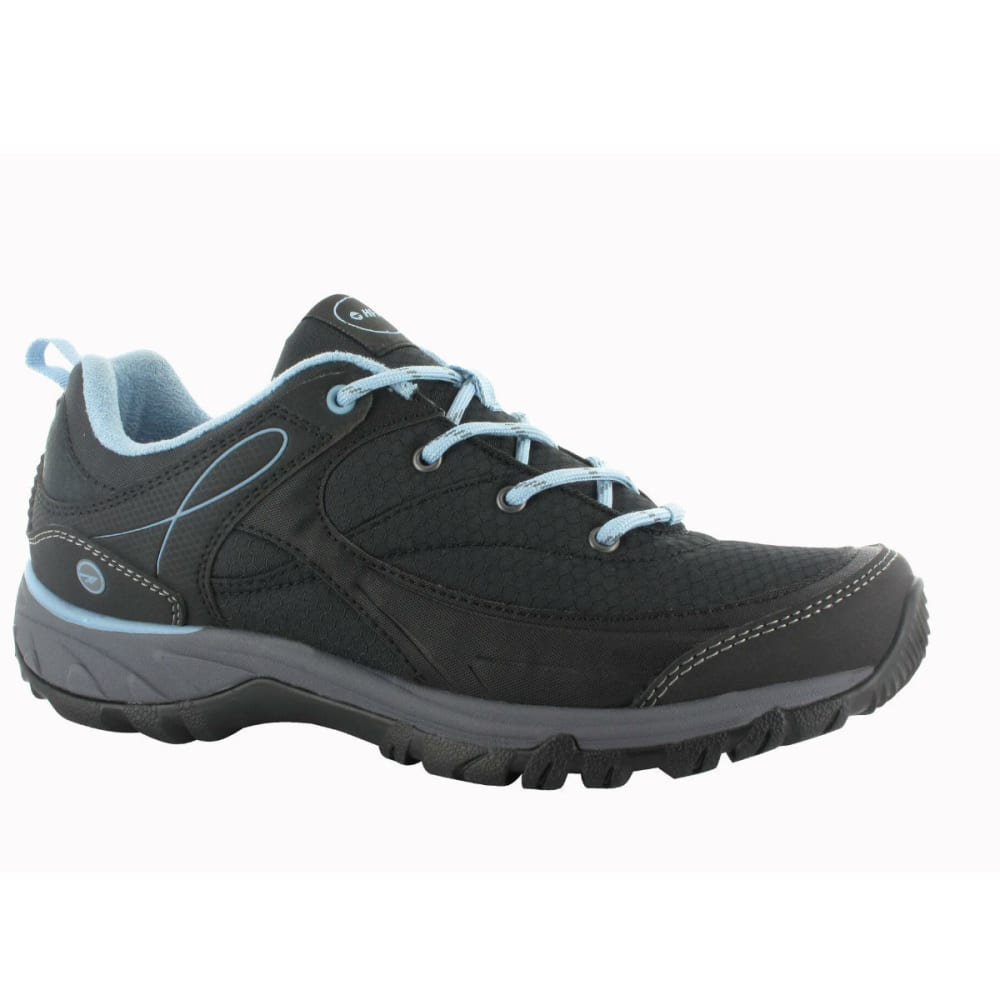 HI-TEC Women's Equilibrio Bijou Low I Hiking Shoes, Black/Forget Me Not - BLACK/FORGET ME NOT