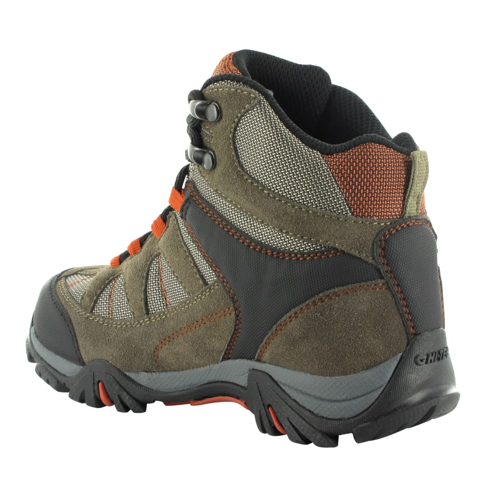 HI-TEC Boys' Altitude Lite I WP Boots, Smokey Brown/Taupe/Red Rock - SMOKEY BROWN/RD RK