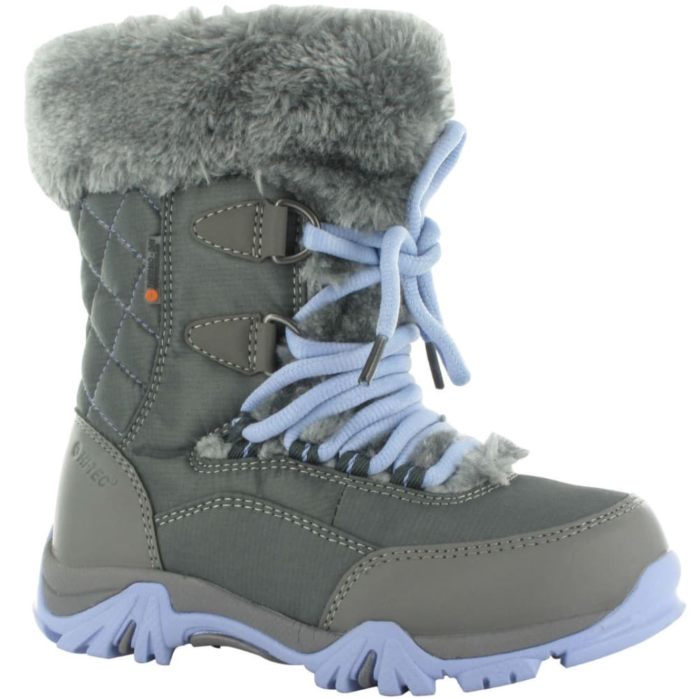 HI-TEC Girls' St. Moritz Lite 200 WP Boots, Charcoal/Steel Grey/Lustr - CHARC/STL GRY/LUSTR