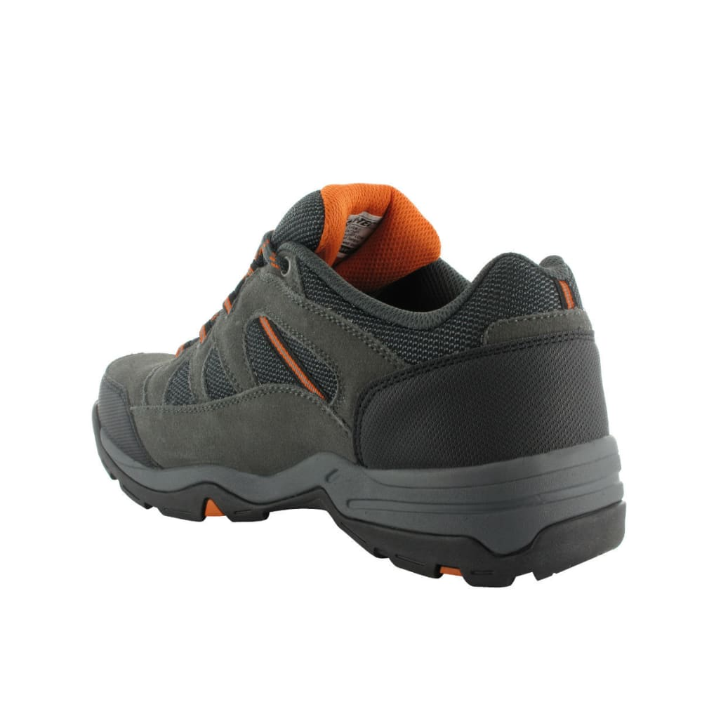 HI-TEC Men's Bandera Low WP Hiking Shoes, Charcoal/Graphite/Burnt Orange - CHARCOAL/GRAPHITE