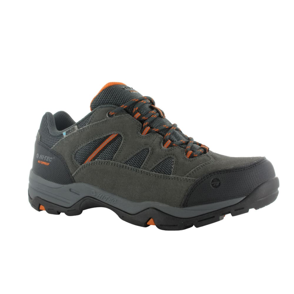 HI-TEC Men's Bandera II Low WP Shoes, Charcoal/Graphite/Burnt Orange, Wide - CHARCOAL/GRAPHITE