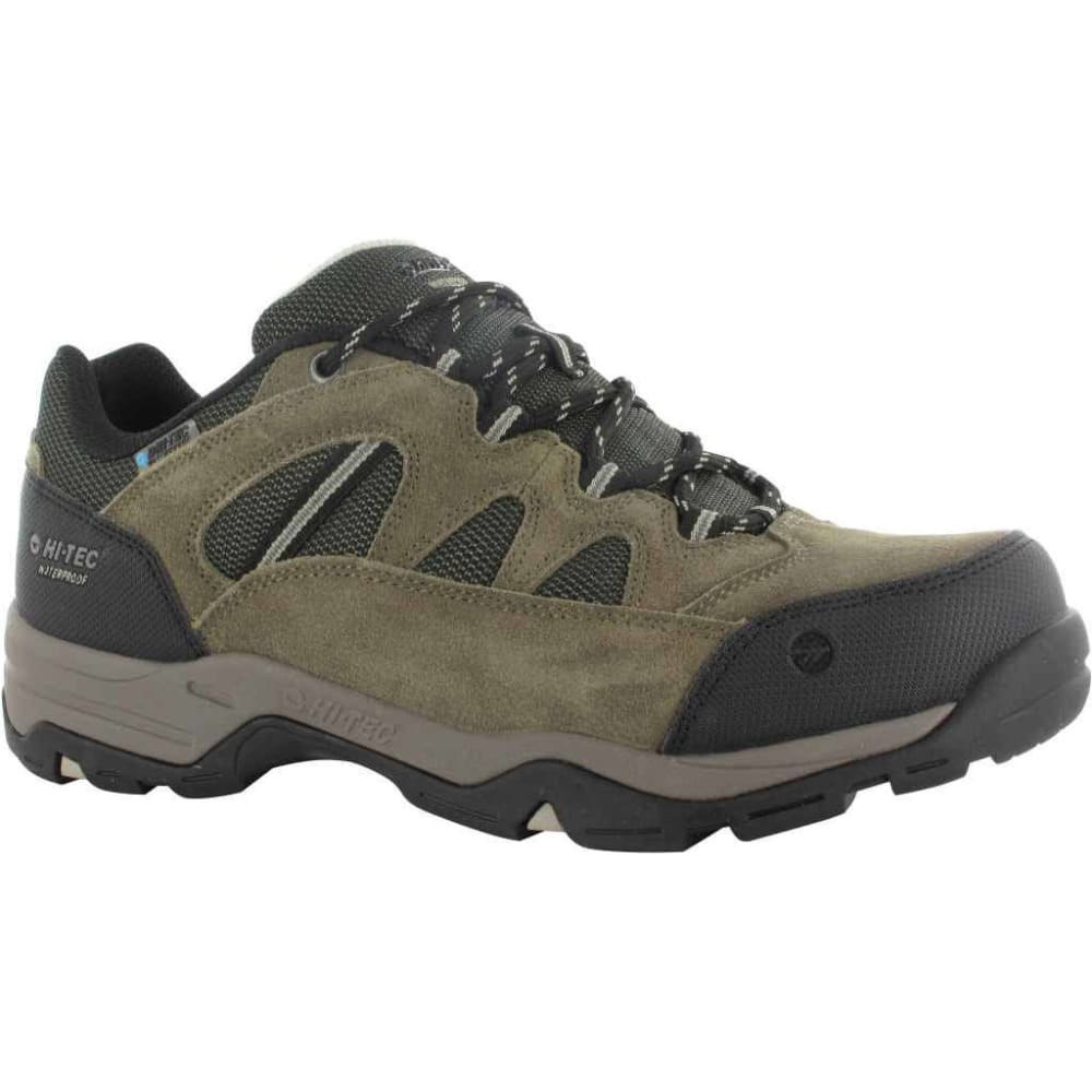 HI-TEC Men's Bandera II Low WP Hiking Shoes, Smokey Brown/Olive/Snow - SM BR/OL/SNW