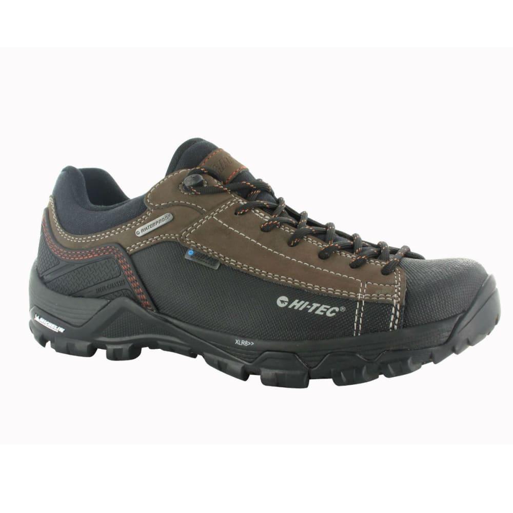 HI-TEC Men's Trail Ox Low I WP Hiking Boots, Chocolate/Burnt Orange - CHOCOLATE/BURNT