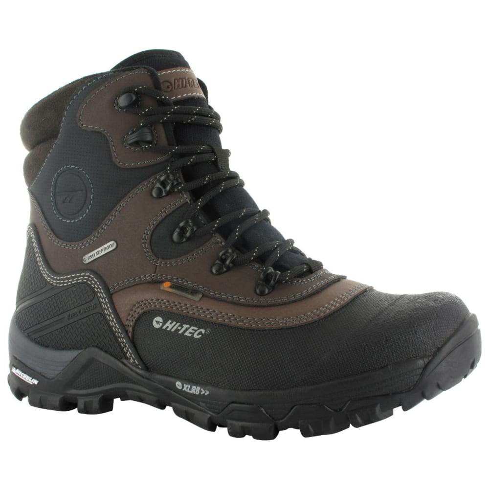 HI-TEC Men's Trail Ox Winter MID 200 I WP Boots, Dark Chocolate/Black/Burnt Orange - CHOCOLATE/BLACK