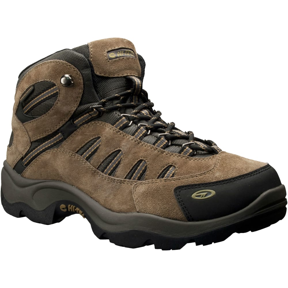 HI-TEC Men's Bandera MID WP Hiking Boots, Bone/Brown/Mustard - BONE/BROWN/MUSTARD