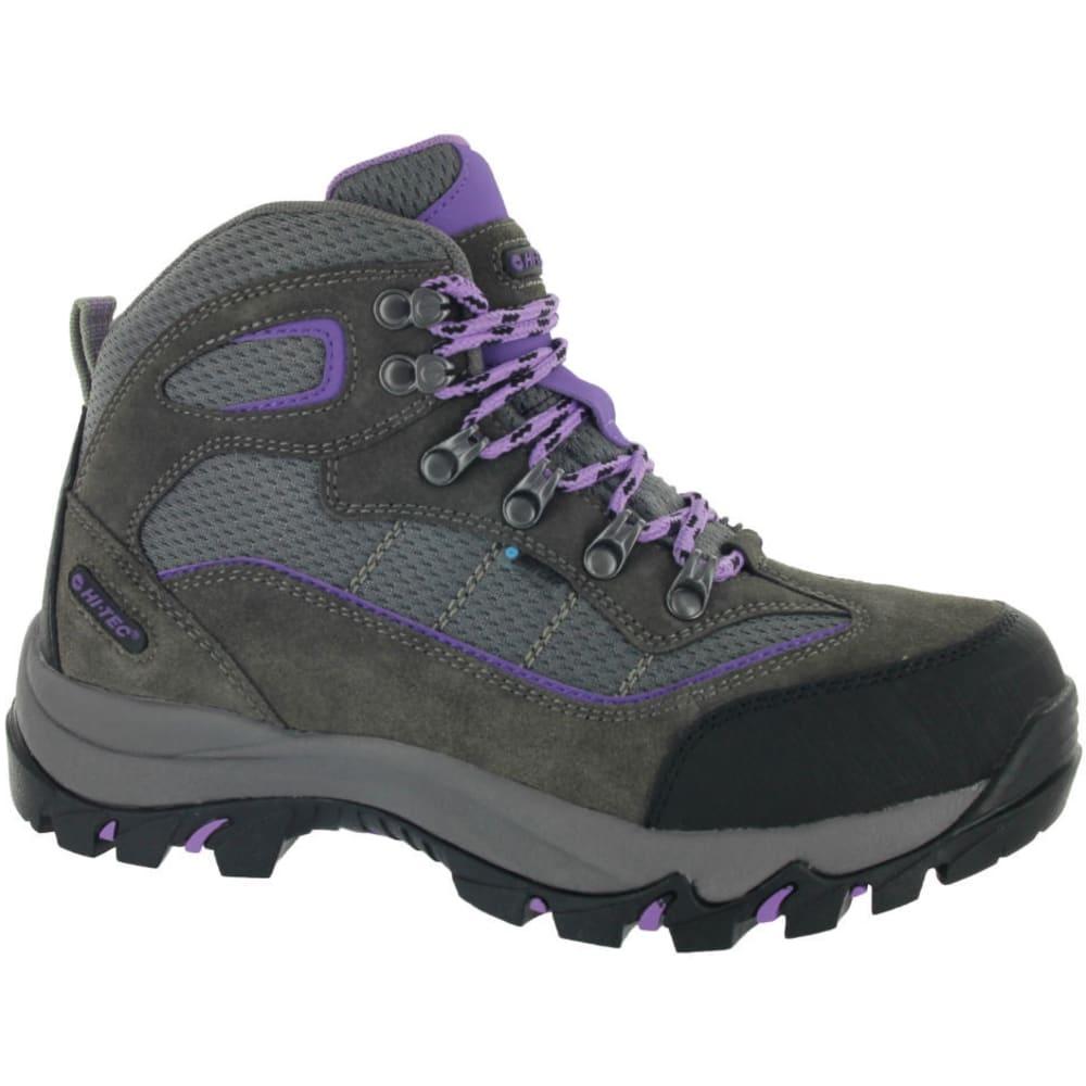 HI-TEC Women's Skamania Mid Waterproof Boots, Wide - GREY/VIOLA