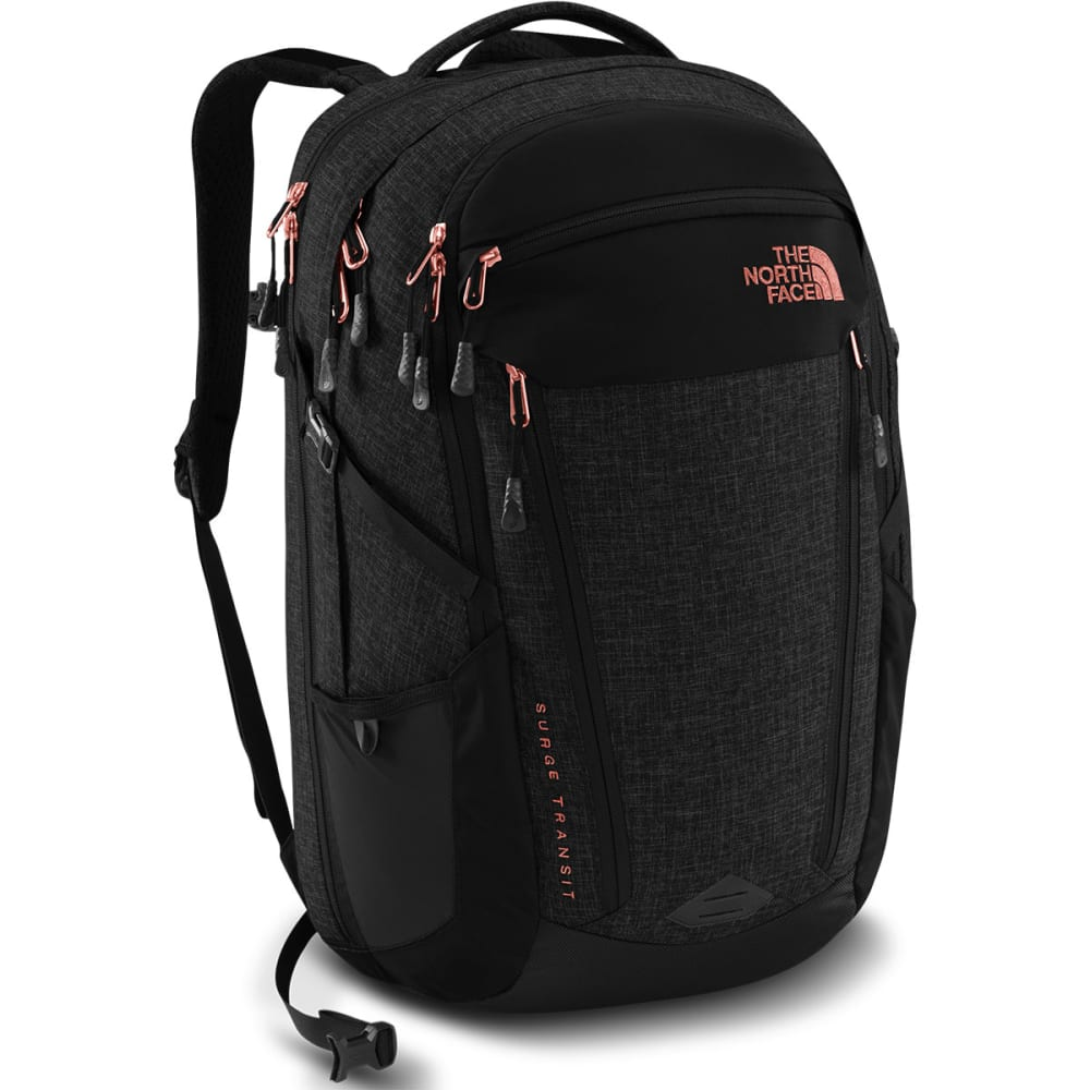 THE NORTH FACE Women's Surge Transit Backpack - TNF BLACK HTHR/CORAL