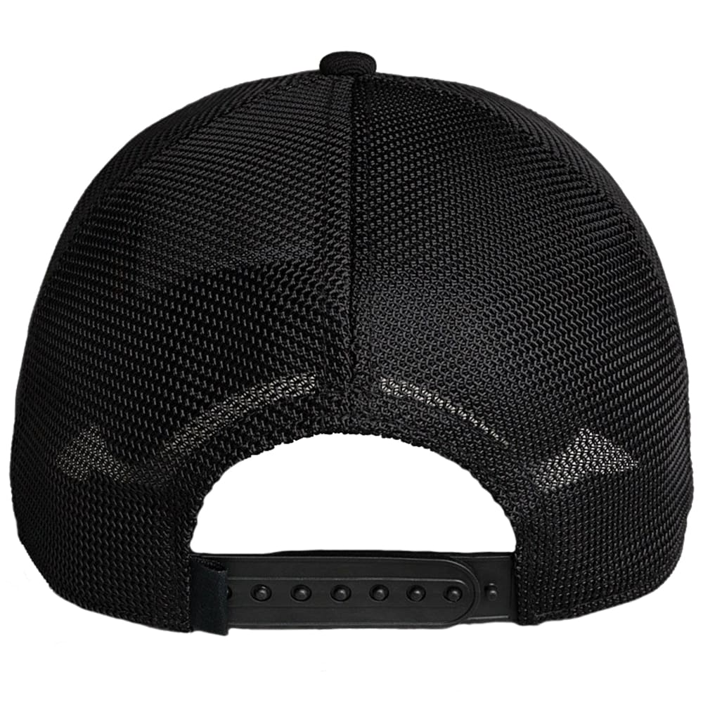 YETI Black on Black Patch Trucker Hat - BLACK
