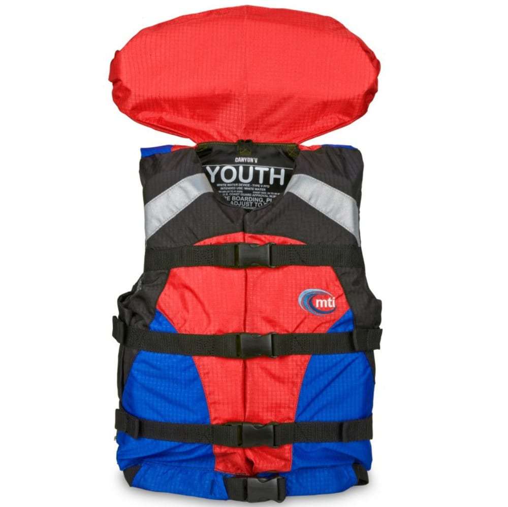 MTI Canyon V Youth PFD - BLUE/RED