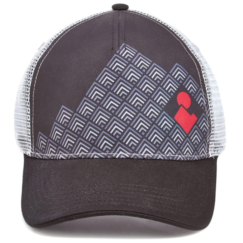 EMS Block Logo Trucker Hat - BLACK
