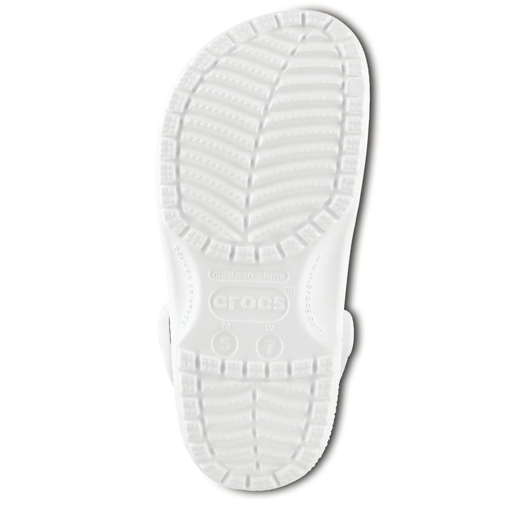 CROCS Adult Classic Clogs, White - WHITE