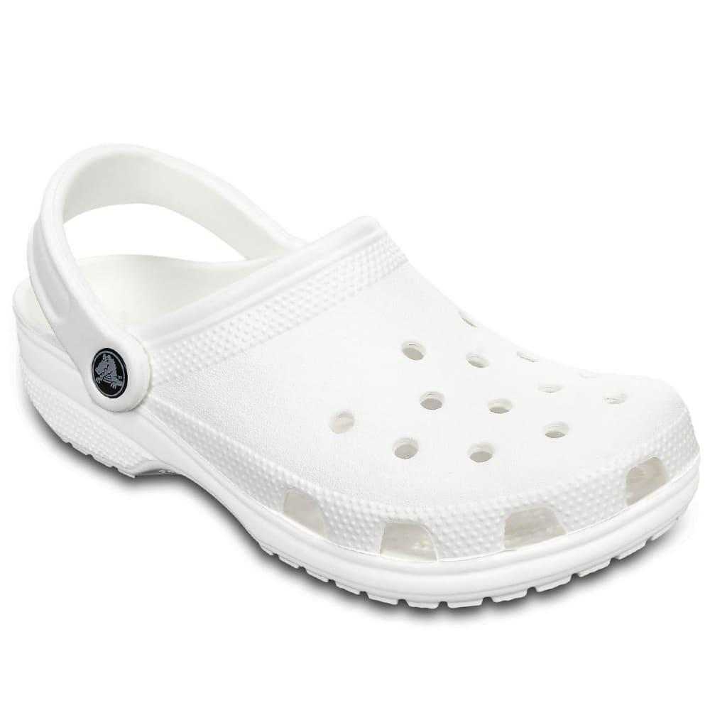 CROCS Adult Classic Clogs, White - WHITE