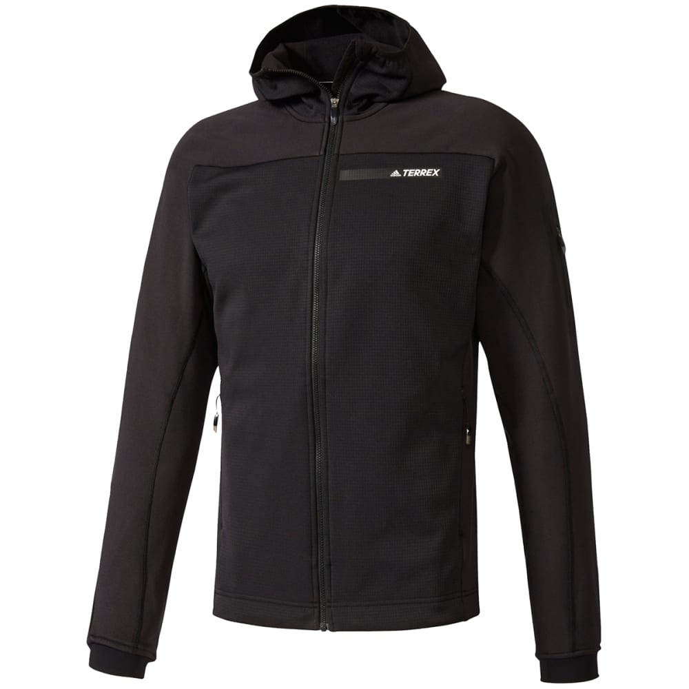ADIDAS Men's Terrex Stockhorn Fleece Hooded Jacket - BLACK