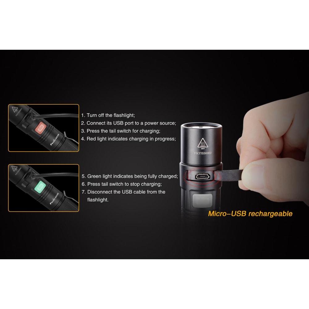 FENIX UC35 Flashlight, 960 Lumens - BLACK