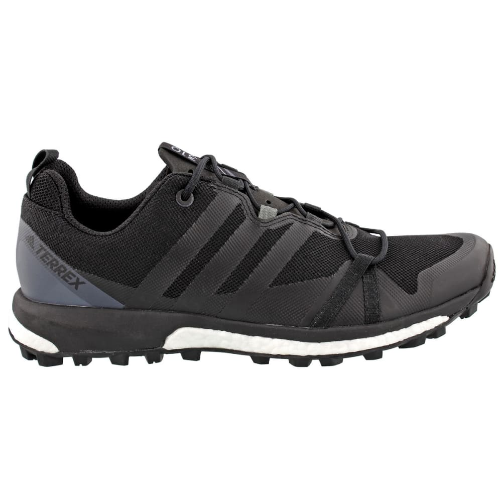 ADIDAS Men's Terrex Agravic Trail Running Shoes, Black - BLACK/BLACK/GREY