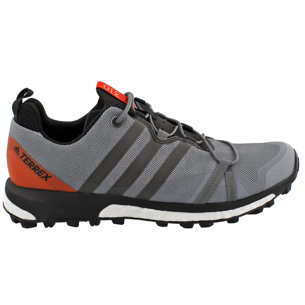 ADIDAS Men's Terrex Agravic Trail Running Shoes, Grey/Orange - GREY/BLACK/ENERGY