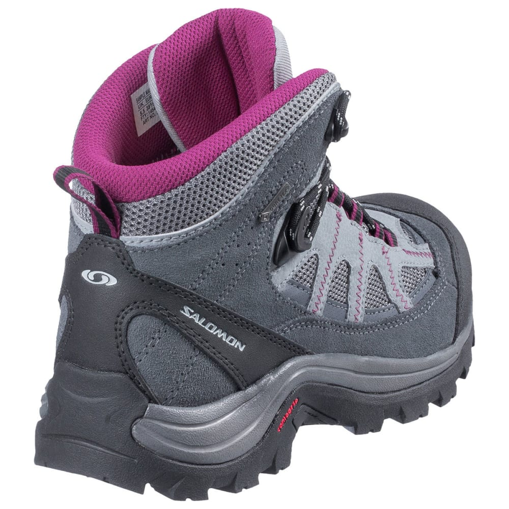 SALOMON Women's Authentic LTR GTX Hiking Boots, Pearl Grey/Grey Denim/Mystic Purple - PEARL GRY/PURPLE