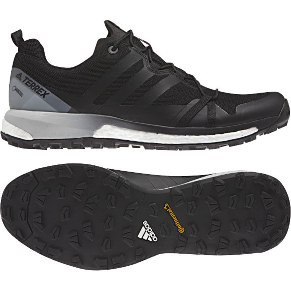 ADIDAS Men's Terrex Agravic GTX Trail Running Shoes, Black - BLACK/BLACK/WHITE