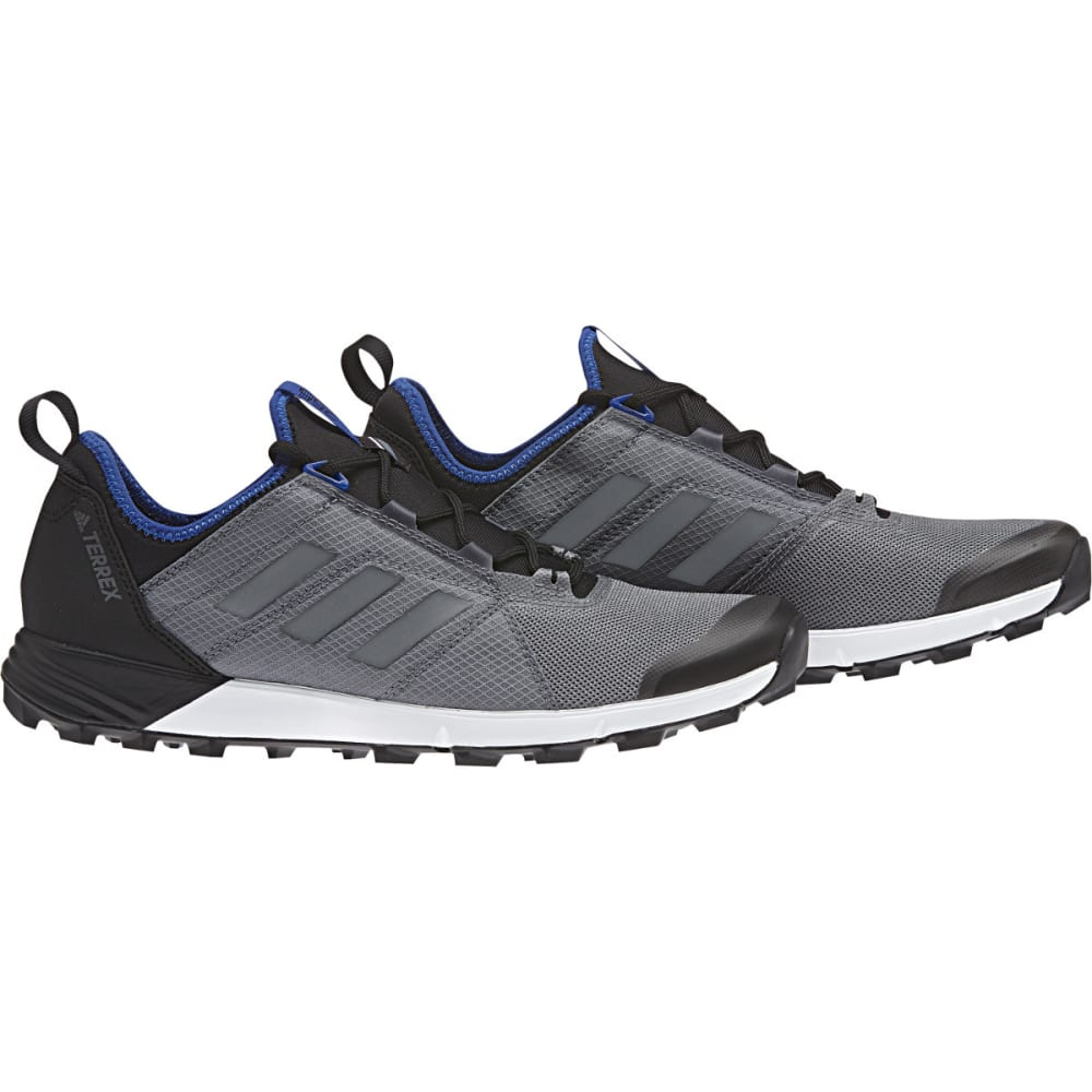 ADIDAS Men's Terrex Agravic Speed Trail Running Shoes, Vista Grey/Core Blue