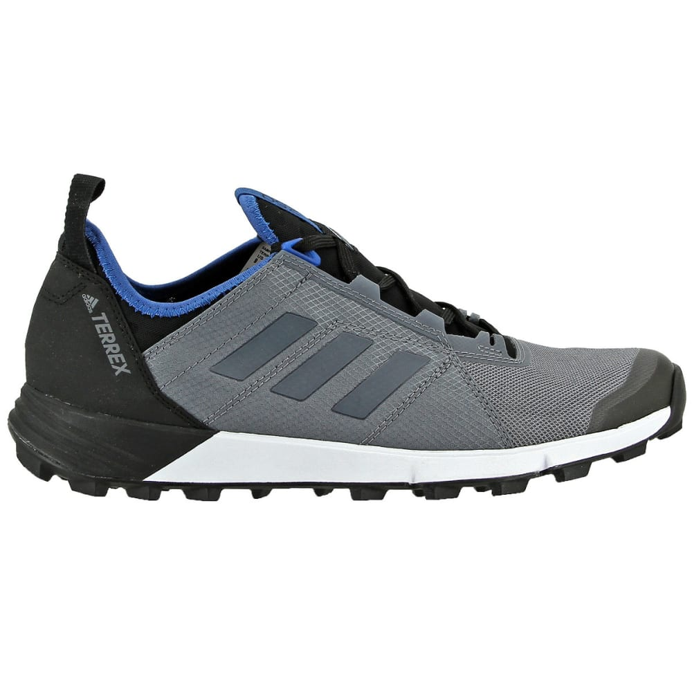 ADIDAS Men's Terrex Agravic Speed Trail Running Shoes, Vista Grey/Core Blue - GREY/GREY/BLUE