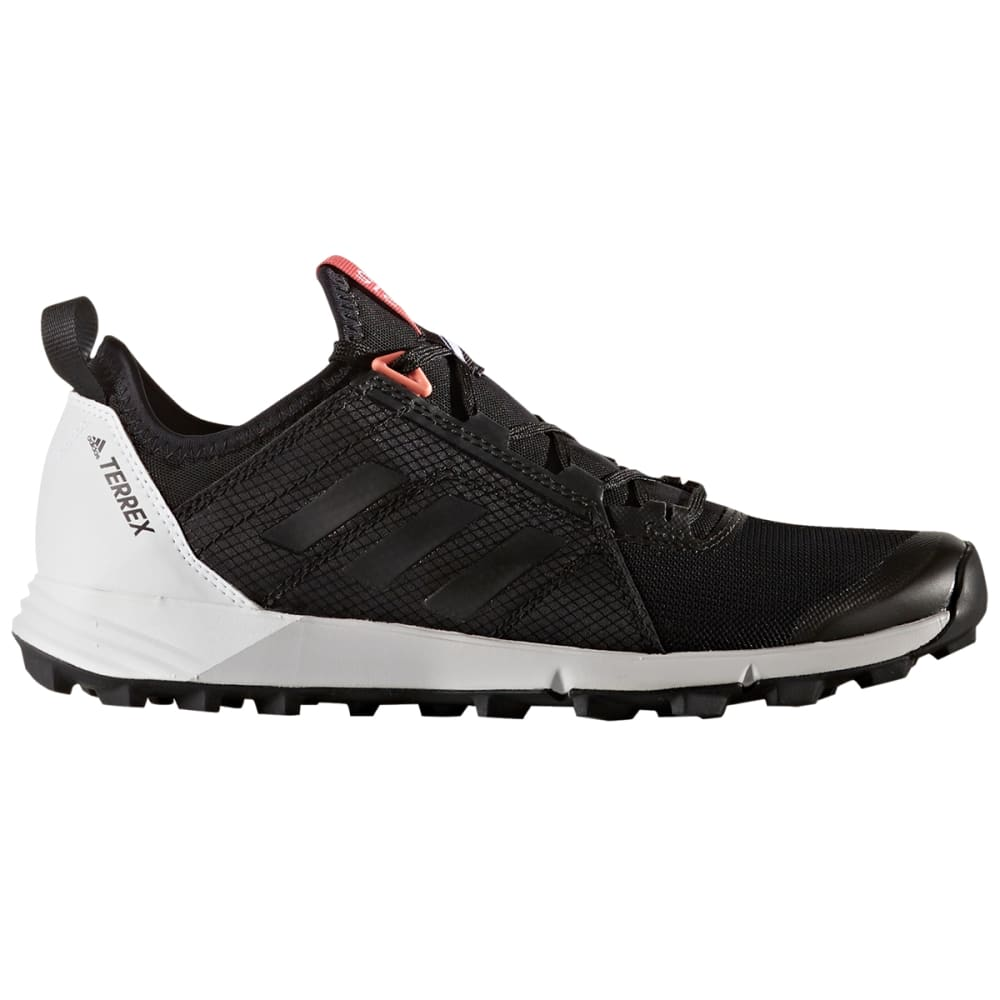 ADIDAS Women's Terrex Agravic Speed Trail Running Shoes, Black/White - BLACK/BLACK/WHITE
