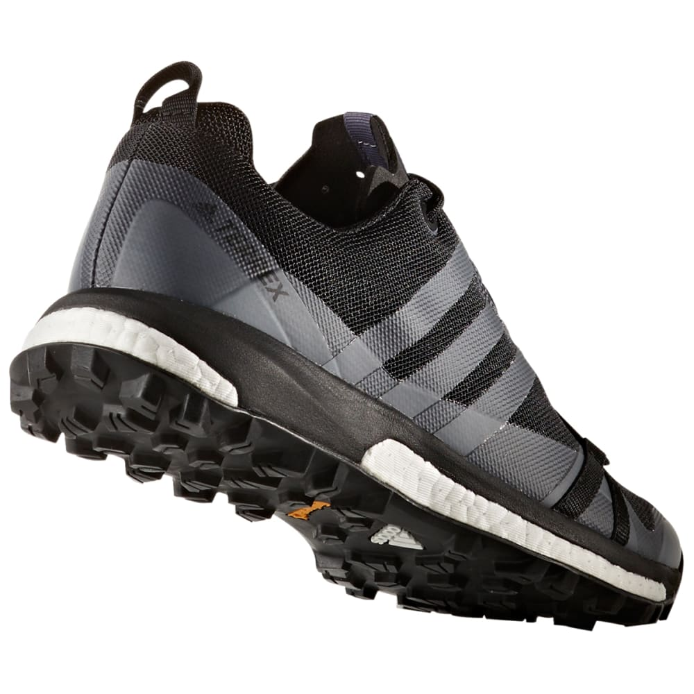 ADIDAS Women's Terrex Agravic Trail Running Shoes, Utility Black/Black/Trace Grey - BLACK/BLACK/GREY