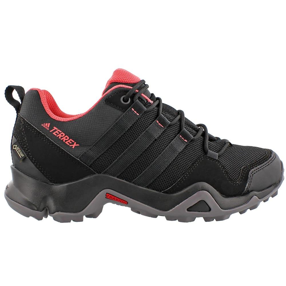 ADIDAS Women's Terrex AX2R GTX Outdoor Shoes, Black/Pink - BLACK/BLACK/PINK