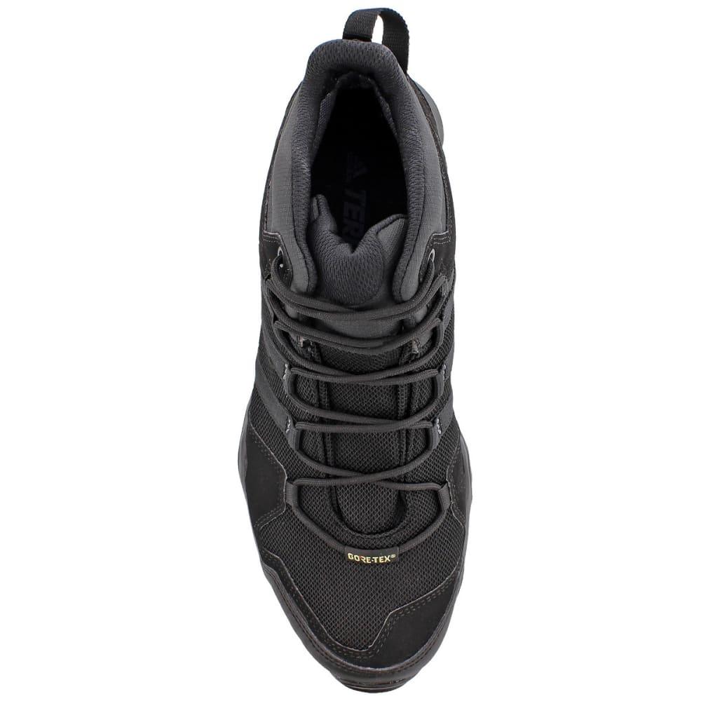 ADIDAS Men's Terrex AX2R Mid GTX Outdoor Shoes, Black - BLACK/BLACK/GREY