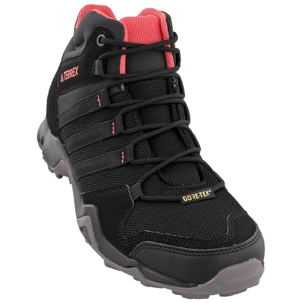 ADIDAS Women's Terrex AX2R Mid GTX Outdoor Shoes - BLACK/BLACK/PINK