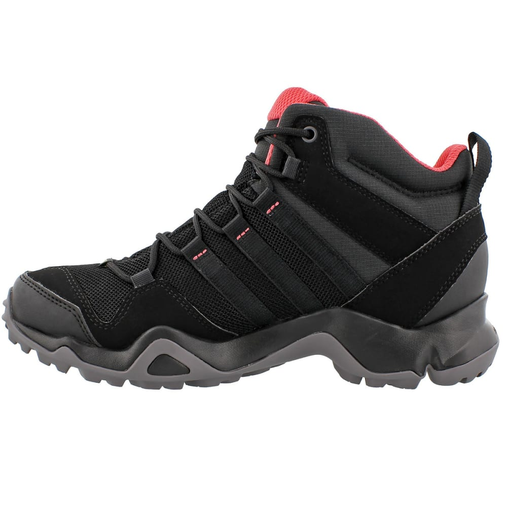 ADIDAS Women's Terrex AX2R Mid GTX Outdoor Shoes - BLACK/BLACK/PINK