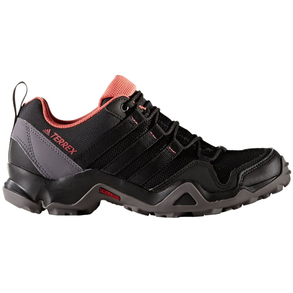 ADIDAS Women's Terrex AX2R Hiking Shoes, Black/Tactile Pink - BLACK/BLACK/PINK