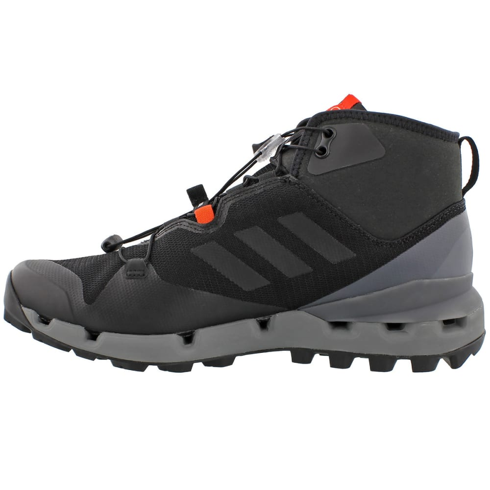 ADIDAS Men's Terrex Fast Mid GTX Surround Hiking, Trail Running Shoes - BLACK/BLACK/GREY