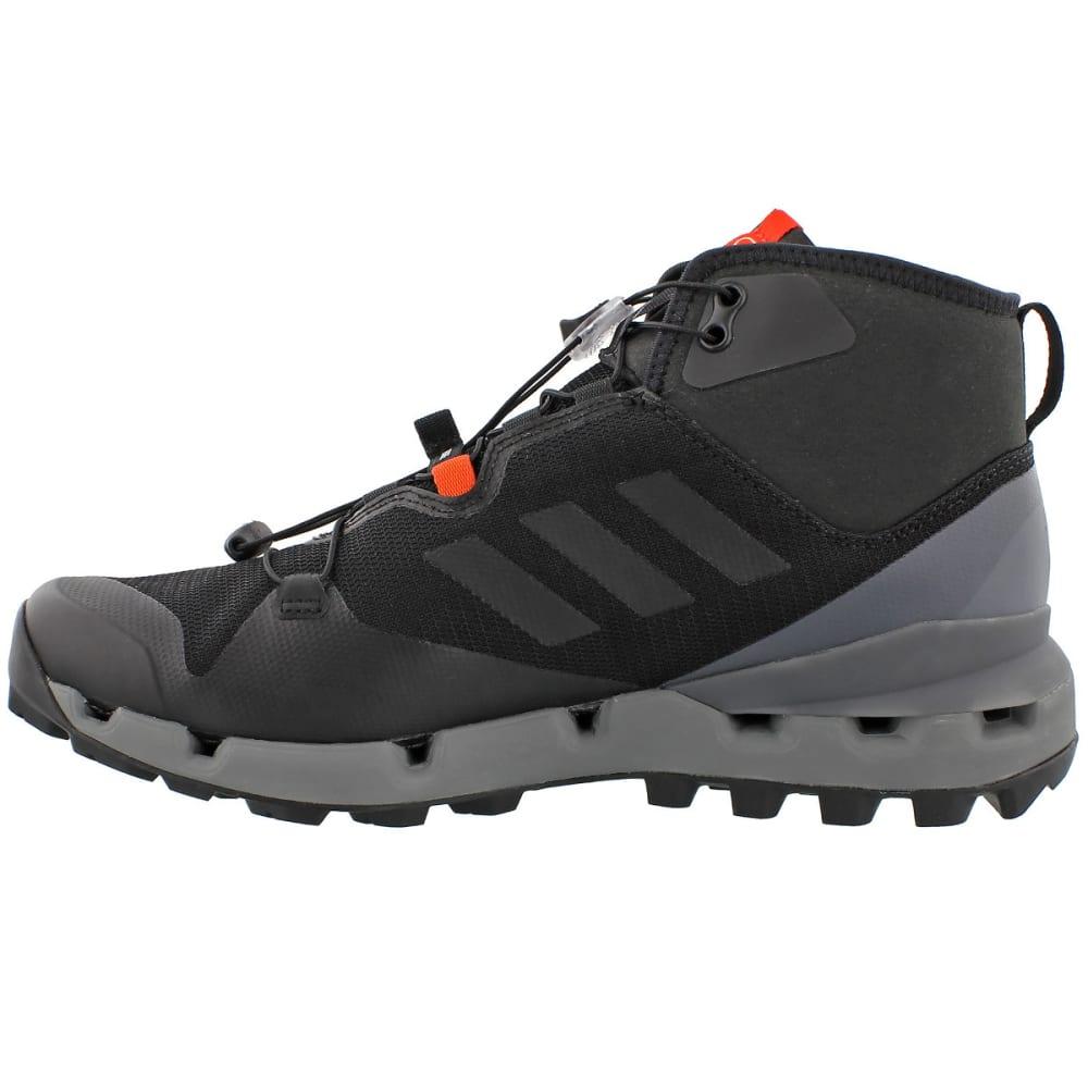 ADIDAS Men's Terrex Fast Mid GTX Surround Hiking, Trail Running Shoes - BLACK/BLACK/GREY