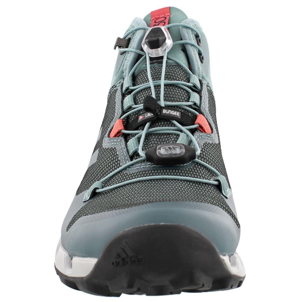 ADIDAS Women's Terrex Fast Mid GTX Surround Hiking, Trail Running Shoes - STEEL/STEEL/PINK