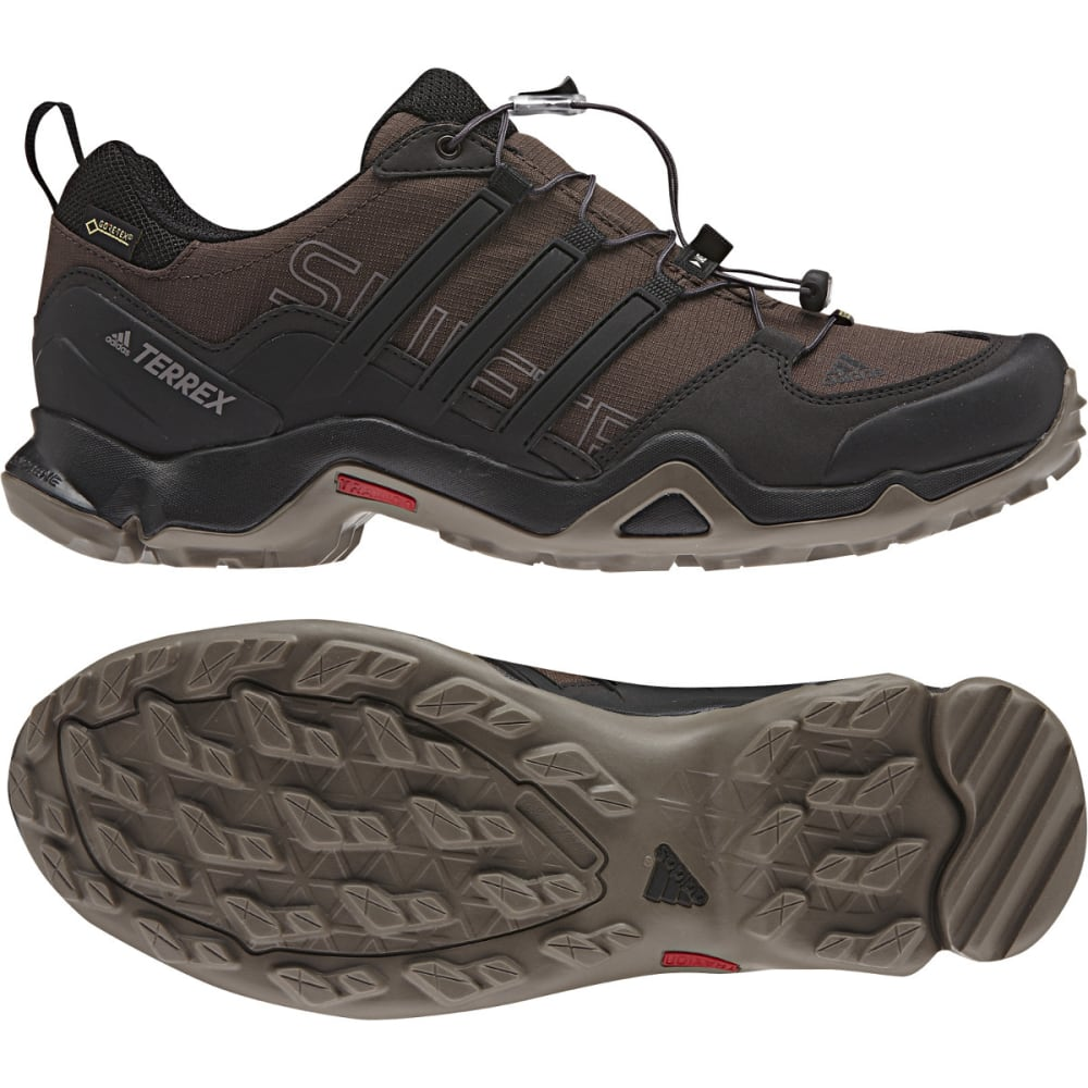 ADIDAS Men's Terrex Swift R GTX Outdoor Shoes, Brown - BROWN/BLACK/BROWN