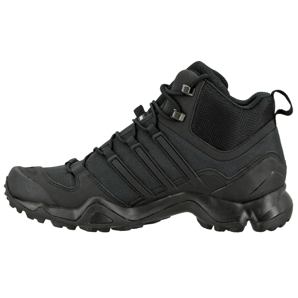 ADIDAS Men's Terrex Swift R Mid Hiking Boots, Black/Black/Dark Grey - BLACK/BLACK/GREY