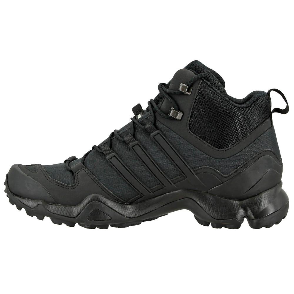 ADIDAS Men's Terrex Swift R Mid Hiking Boots, Black/Black/Dark Grey - BLACK/BLACK/GREY