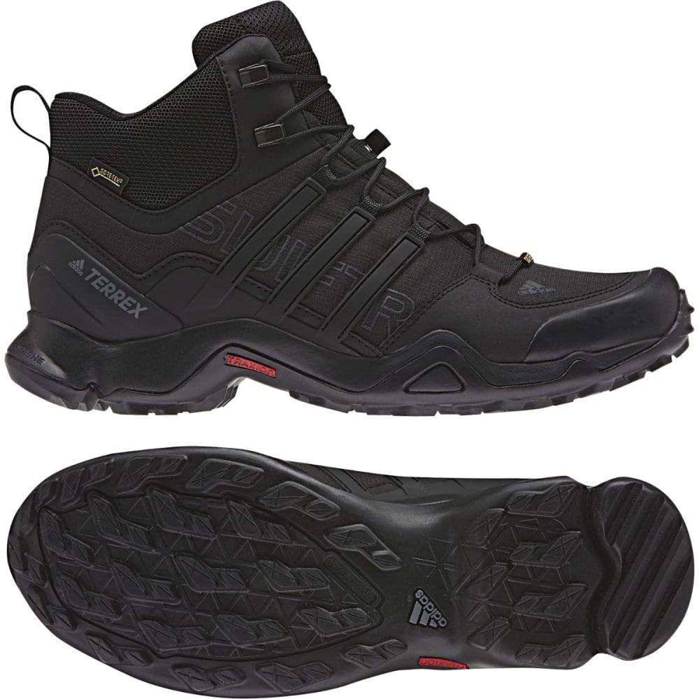 ADIDAS Men's Terrex Swift R Mid GTX Hiking Shoes - BLACK/BLACK/GREY